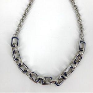 """Lia Sophia """"Chain Reaction"""" silver tone necklace"""